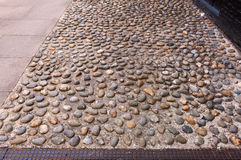 Pebbled textured path Royalty Free Stock Photography