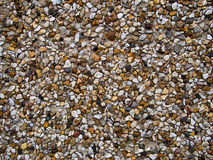 Pebbledash wall detail. Traditional material for cladding homes stock photo