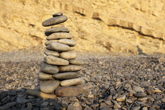 pebblepyramid Royaltyfri Bild