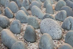 Pebbles 2. Pebbles used for foot reflexology Royalty Free Stock Image