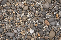 Pebbles. Different colored and sized pebbles Stock Images