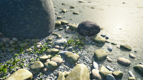 Pebbles. An image of a nice pebbles in water background Royalty Free Stock Photography