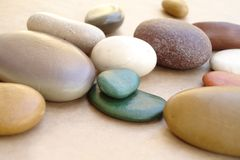 Pebbles. Beautiful composition made of pebbles Stock Photo
