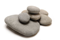 Pebbles. Stones on white background royalty free stock photography