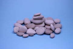 Pebbles. Lots of small stones from the sea Royalty Free Stock Images