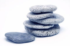 Pebbles. Stacked stock photography