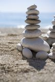 Pebbles. Pebble tower Royalty Free Stock Photos