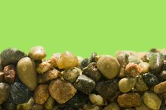 Pebbles in Aquarium Stock Photo