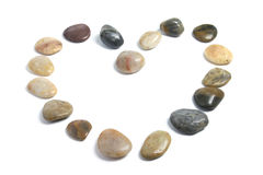Pebbles Arranged in Shape of Heart Royalty Free Stock Photo