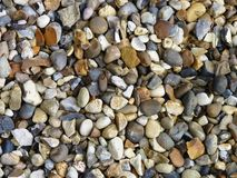 Pebbles. An array of different coloured pebbles Royalty Free Stock Photography