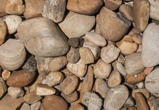 Pebbles background Stock Photos