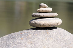 Pebbles in balance. Five little pebbles in balance Royalty Free Stock Photos