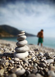 Pebbles balance Royalty Free Stock Photo
