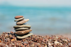 Pebbles in balancing Stock Image