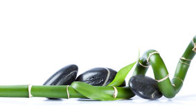 Pebbles and bamboo. Zen scene Stock Photo