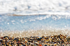 Pebbles on the beach Royalty Free Stock Photo