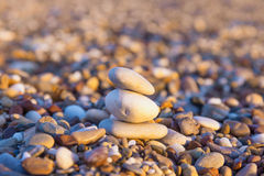 Pebbles on beach Stock Images