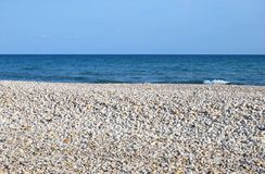 Pebbles in the beach Stock Image