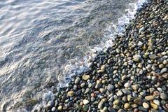 Pebbles on beach Stock Photo