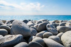 Pebbles on beach Stock Image