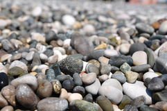 Pebbles. On the beach of the black sea Royalty Free Stock Photos