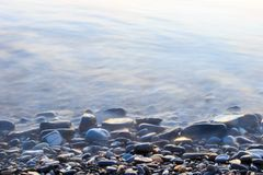 Pebbles on the beach. Of the Black sea coast of Sochi Royalty Free Stock Photo