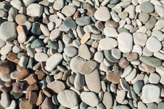 Pebbles beach. On Cyprus on the seashore Royalty Free Stock Photography