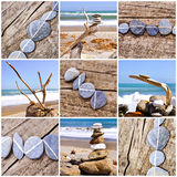 Pebbles on a beach on the West coast, New Zealand Royalty Free Stock Photography