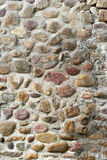 Pebbles built the wall Stock Images