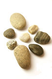 Pebbles in a circle. Pebbles places next to each other to form a circle Royalty Free Stock Images