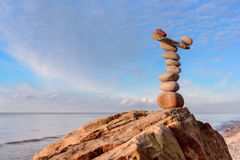 Pebbles on the coast Stock Photography