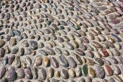 Pebbles or cobblestone road Royalty Free Stock Photos