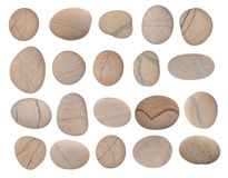Pebbles collection Royalty Free Stock Image