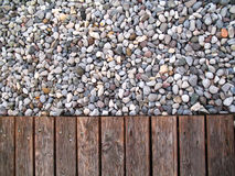 Pebbles colors. Some pebbles and a sidewalk stock photography