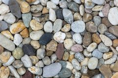 Pebbles. Detailed shot of various pebbles/stones on beach Royalty Free Stock Photography