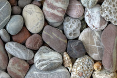 Pebbles in earth colors - stone pattern Royalty Free Stock Images