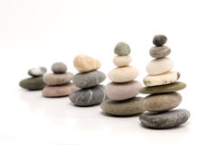 Pebbles forming graph stock photo