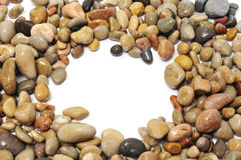 Pebbles frame Royalty Free Stock Photo