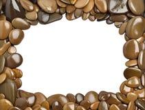 Pebbles frame Stock Photo