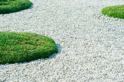 Pebbles and Grass Royalty Free Stock Photography