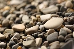 Pebbles background Stock Photo