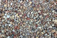 Pebbles of gravel in different  texture stock photo