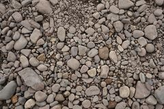 Pebbles on ground stock photography