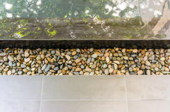 Pebbles in gutter of swimming pool Stock Photography