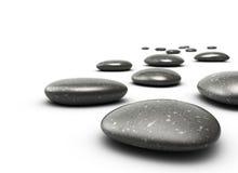 Pebbles, harmoni och meditation stock illustrationer