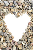 Pebbles heart frame Royalty Free Stock Photography