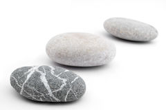 Pebbles In Line Stock Photography