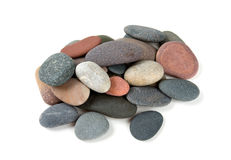 Pebbles islated on white Royalty Free Stock Image