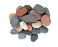 Pebbles. Isolated on white background stock images