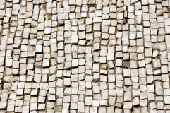 Pebbles mosaic. Tile floor wall grey modern mosaic   square Pebbles texture surface gravel Royalty Free Stock Photos